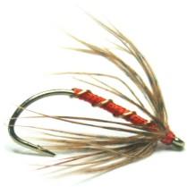 softhackles.com – Soft Hackle Wet Fly – Orange Grouse