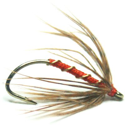 softhackles.com – Soft Hackle Wet Fly – Orange Grouse