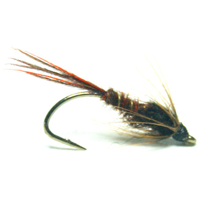 softhackles.com – Soft Hackle Wet Fly – Orange Furnace PTN