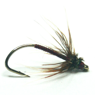 softhackles.com – Soft Hackle Wet Fly – Claret Spanish Needle Fly