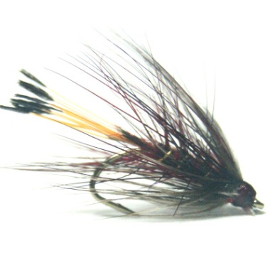softhackles.blog - palmered hackle wet fly - Claret Bumble