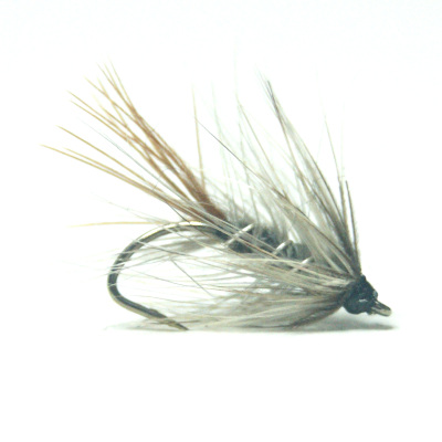 softhackles.blog - palmered hackle wet fly - Grey Palmer
