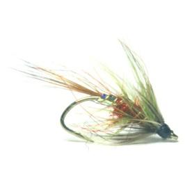 softhackles.blog - palmered hackle wet fly - Olive5