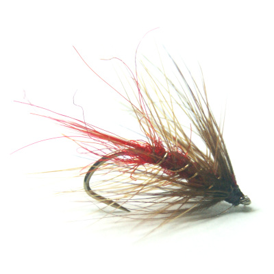 softhackles.blog - palmered hackle wet fly - Soldier Palmer