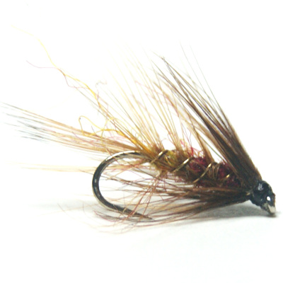softhackles.blog - palmered hackle wet fly - Aberdeen Angus