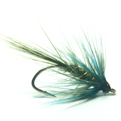 softhackles.blog - palmered hackle wet fly - Dark Olive Bumble