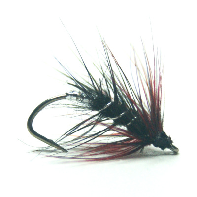 softhackles.blog - palmered hackle wet fly - Heather Fly Palmer