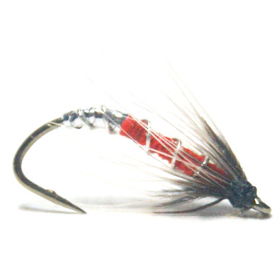 softhackles.blog - soft hackle wet fly - Orange Pupa