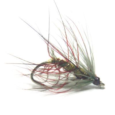 softhackles.blog - soft hackle wet fly - Red Olive Palmer