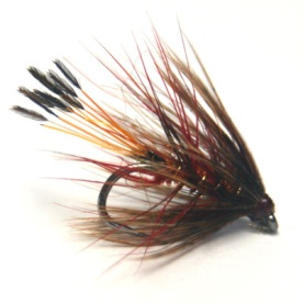 softhackles.blog - soft hackle wet fly - Red Mottled Bumble